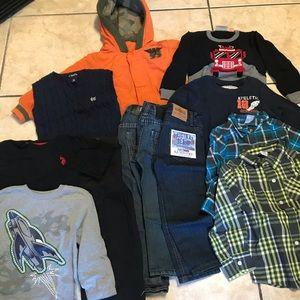 Bundle of Little Boys size 4t clothing (12 pcs)